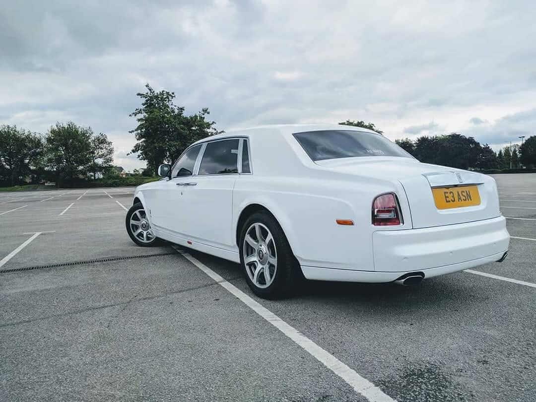 rolls royce phantom wedding car hire manchester