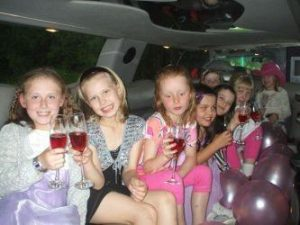kid's party limo manchester