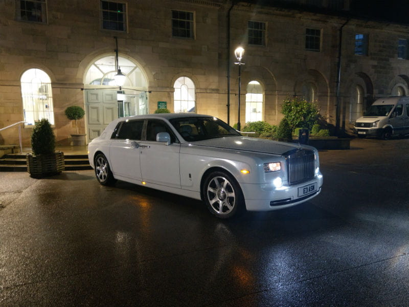white rolls royce phantom hire manchester