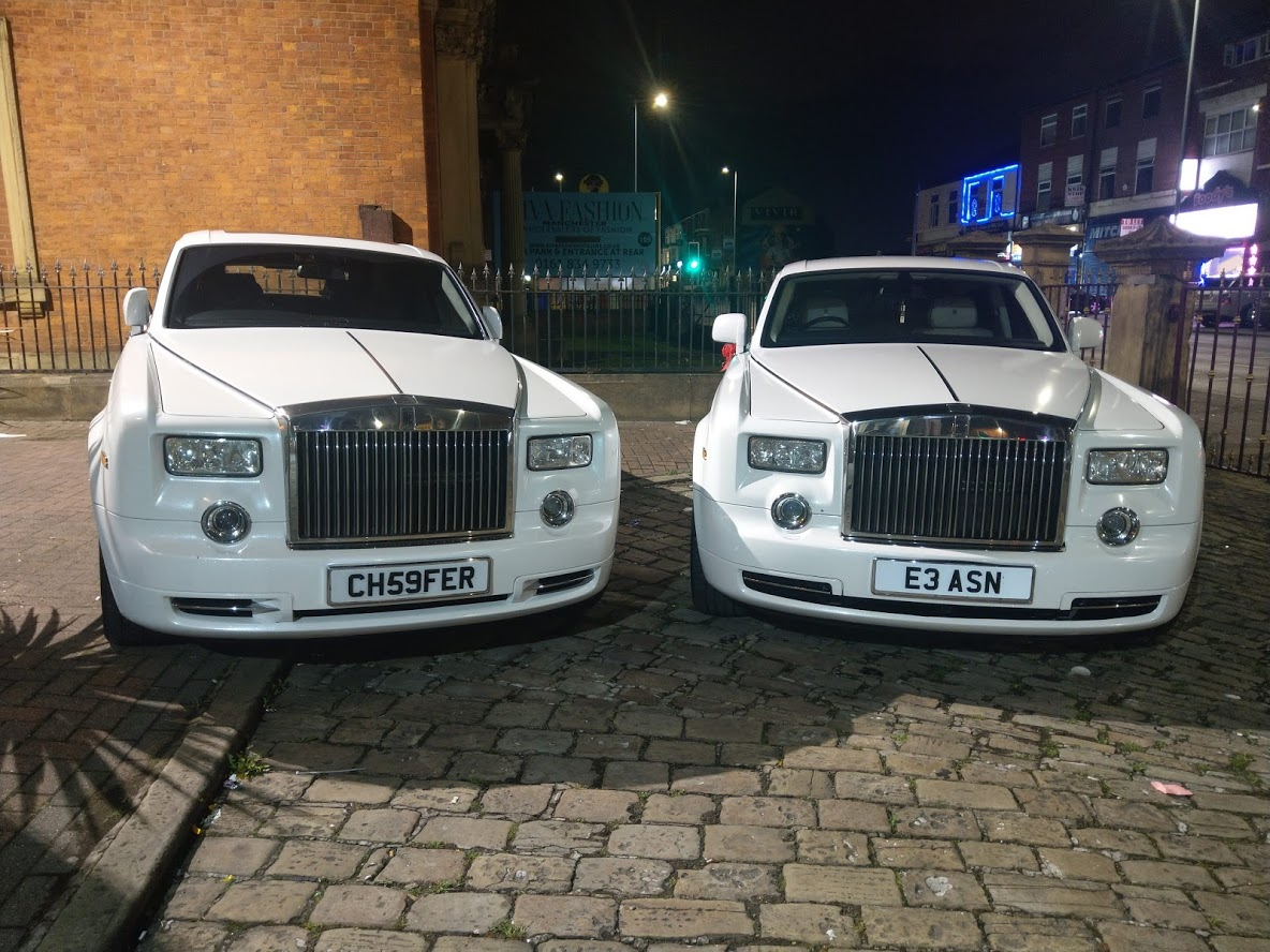 Rolls Royce Phantom Wedding Hire Manchester